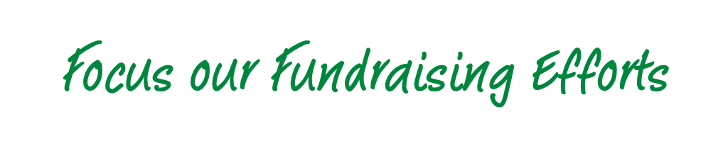 Focus our Fundraising Efforts
