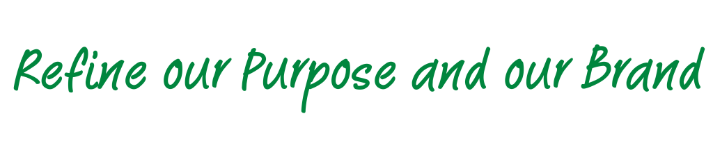 Refine our Purpose and our Brand